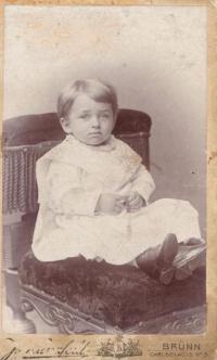 Otec Kurt Baran, Brno asi 1901