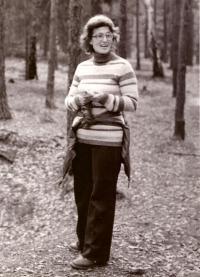 Elly Jouzová, závodnice v orientačním běhu, 1979