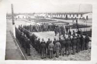 Nástup v kasárnách. 1. světová válka.