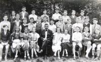 In the top row third from left Matti Cohen (Mathias Kohn), student, Ústí nad Labem. 1937