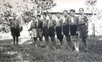 Scouts from Tchelet Lavan. 1930s