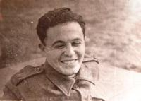 Matti Cohen as an Israeli soldier. Early 1950s