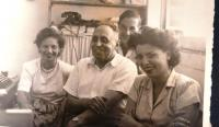Father Kamil Kohn in his office, Tel Aviv, 1950ies