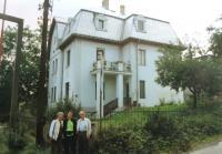 House of Kohn family. Matti Cohen with his wife Ruth. Ústí nad Labem. 1990s