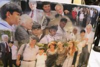Photo arrangement from bar mitzvah of great grand son of Matti Cohen