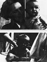 Dětská s maminkou, květen 1937