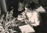 Během studia, 1958