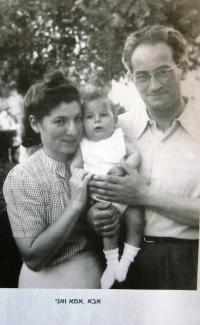 With mum Judit and father Hanuš (1941)