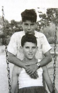 With a friend, 1953