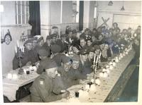 Seder in England. HR sixth from left, 1944