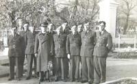 Czechoslovak soldiers with a catholic priest