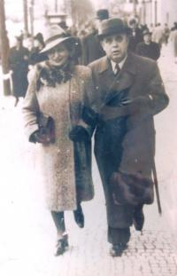Mum with prof. Lamm, her second husband 1936