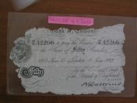 Original counterfeit banknotes taken from the lake Toplitzského