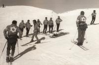 Rescue team at Mt. Hermon, 1969
