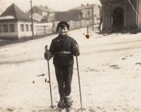 Skiing in Trutnov, 1933