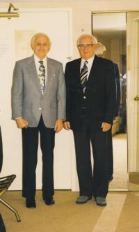 With brother Gerhard (right)