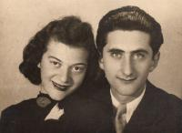 With first wife Ritzi, 1942