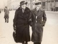 With mum in Prague, 1938