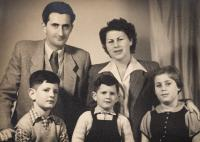 With the second wife Miriam and children, Tel Aviv 1955