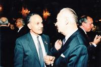 With Alexander Dubček
