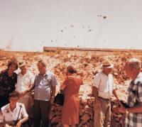 Sad Spravedlivých mezi národy, Jeruzalém 1975, uprostřed Zora Pičulin
