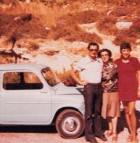Šaul, Zora, manželka Eva, Izrael 1975