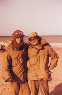 Šaul (vpravo) během Jomkipurové války, 1973