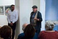 Ze zahájení výstavy Matyho Grunberga v říjnu 2017