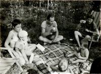 Hana with her GDR friends, family of Markus Meckel, former Minister of Foreign Affairs