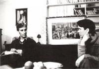Hana s evangelickým farářem Jaromírem Strádalem, Vrchlabí asi 1982