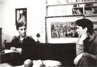 Hana with Jaromír Strádal, Evangelical priest, Vrchlabí about 1982