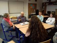 Nahrávání rozhovoru pro projekt Příběhy našich sousedů