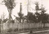 One of the houses in Český Malín shortly after the tragedy