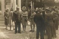 Pieta for the burning of Bohemian Malin in New Malin in 1947