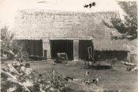 The barn of Bešt's house in Ledohovec in Volhynia