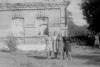 At the house of Josef and Věra Beštová in Bohemian Malin after burning the village