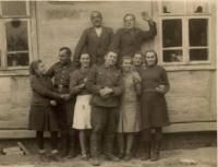 In Český Malín in 1944, when the men entered the Czechoslovak Republic. Army Corps