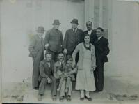 Polish teachers from the neighborhood during a meeting in Ledoc in Volhynia. Middle Lydie Beštová
