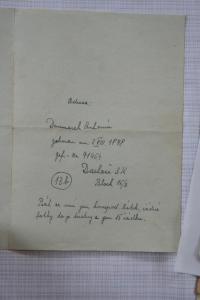 Letter to his father to Dachau