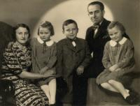 Little Augustin with his family
