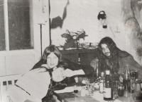 Zdeněk Buk (vpravo) s kamarády