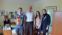 With pupils from the project Our neighbours stories