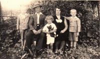 Radislav Bušek s rodinou