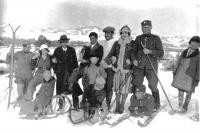 Na lyžích v dětsví