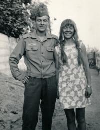 1970 - s bratrem Ondřejem, Litoměřice