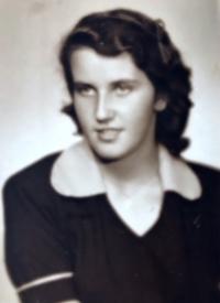 Eva Kotková, portrét, Praha 1951