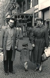with parents 1956