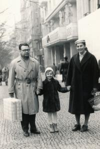 with parents 1959