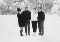 sister eva and her husband, Zuzana and her father 1968