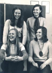 1974, Zuzana right up